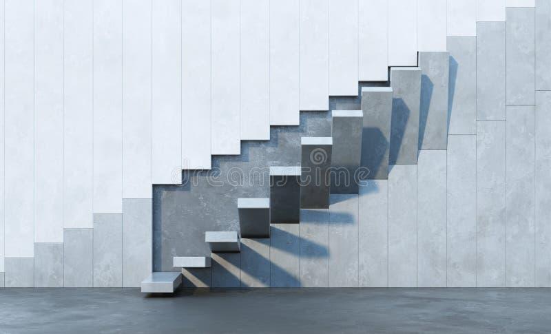 Escadas que conduzem para cima ilustração royalty free
