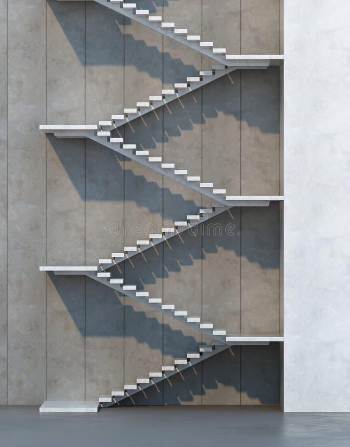 Escadas que conduzem para cima imagens de stock royalty free