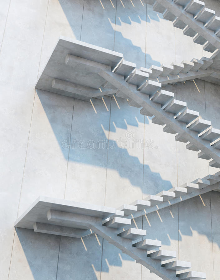 Escadas que conduzem para cima imagens de stock