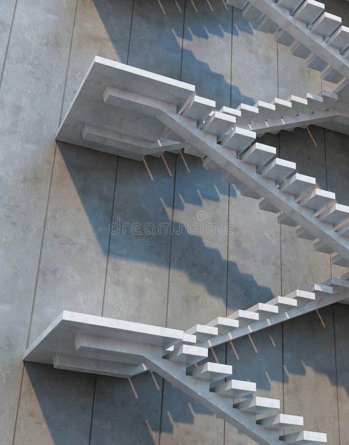 Escadas que conduzem para cima ilustração do vetor