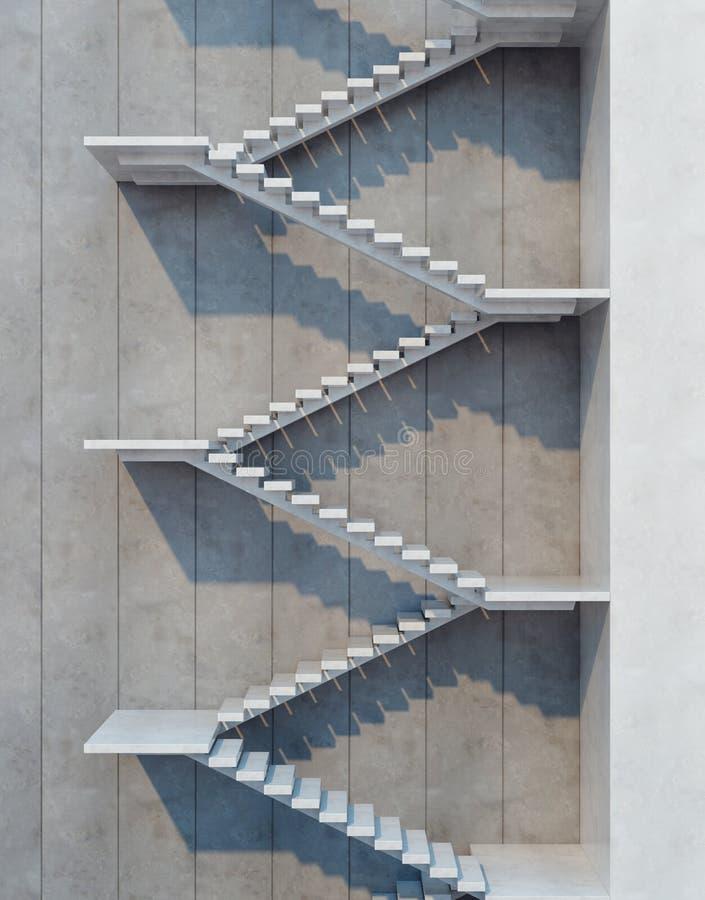 Escadas que vão para cima ilustração do vetor