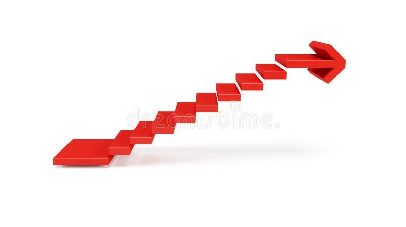 Escadas que vão para cima ilustração stock