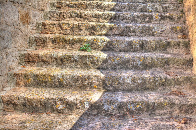 Escadas rochosas foto de stock