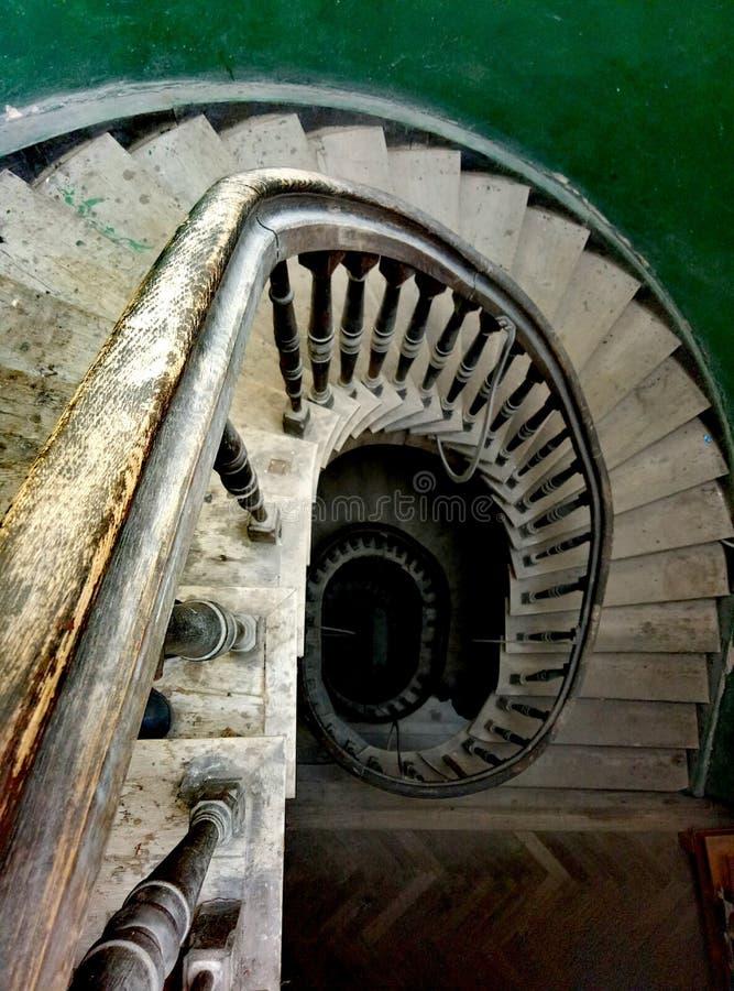 Escadas velhas em Lviv fotos de stock
