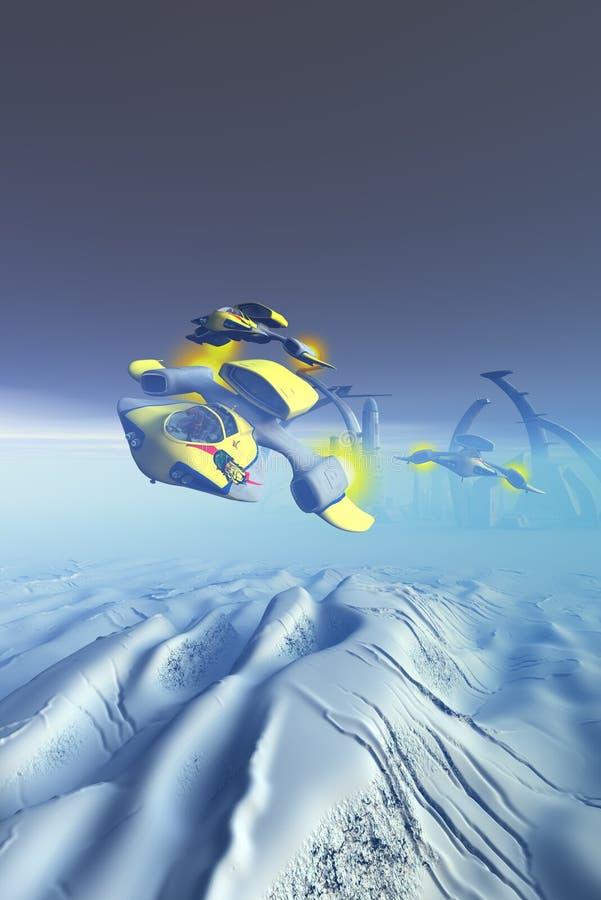 Escadron d'attaque de bouledogue illustration de vecteur