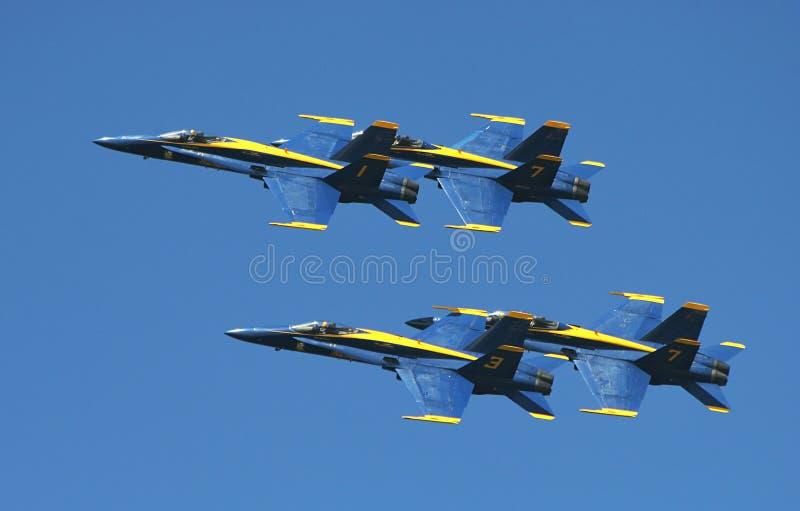 Escadron de démonstration d'anges bleus de corps des marines des USA images libres de droits