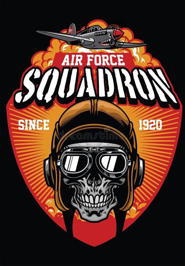 Escadron pilote de l'Armée de l'Air illustration de vecteur