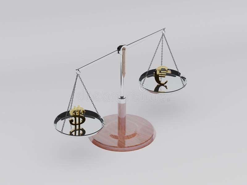 Escala 3D del balance ilustración del vector