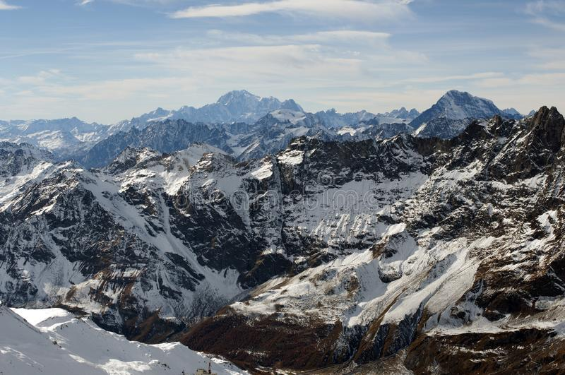 Escala alpina imagens de stock