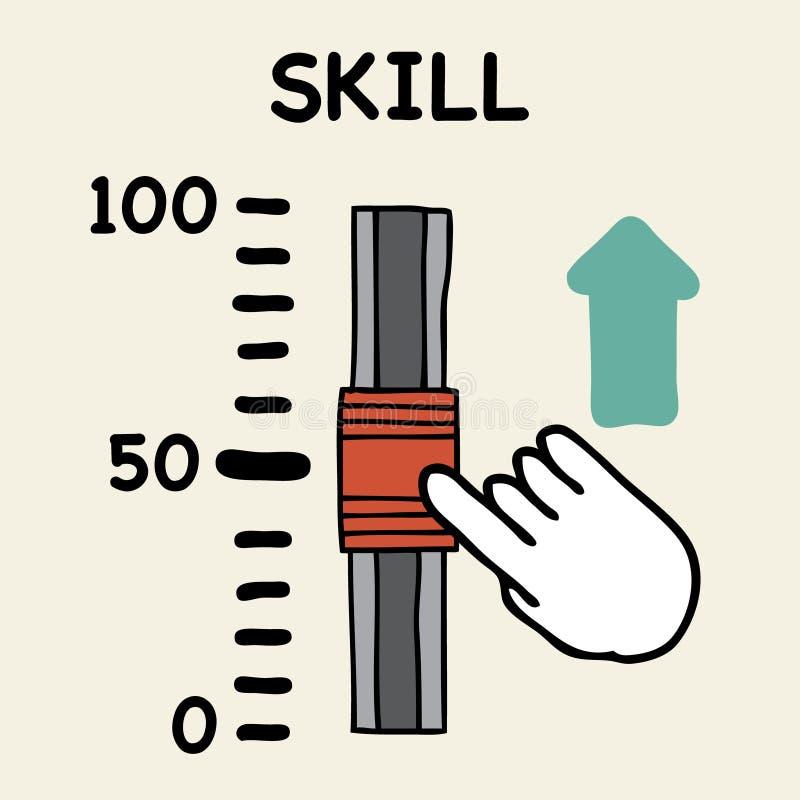 Escala da habilidade ilustração stock