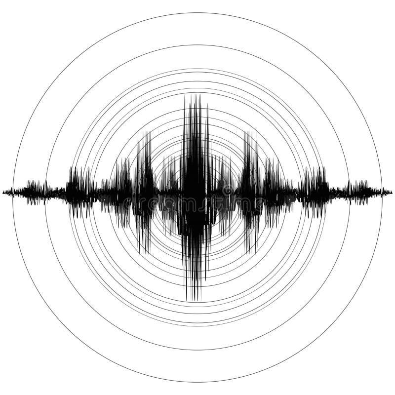 Escala da magnitude do terremoto de Richter do terremoto Ilustração do vetor ilustração stock