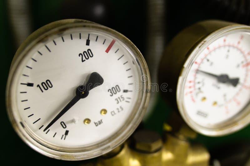 Escala da pressão de ar foto de stock