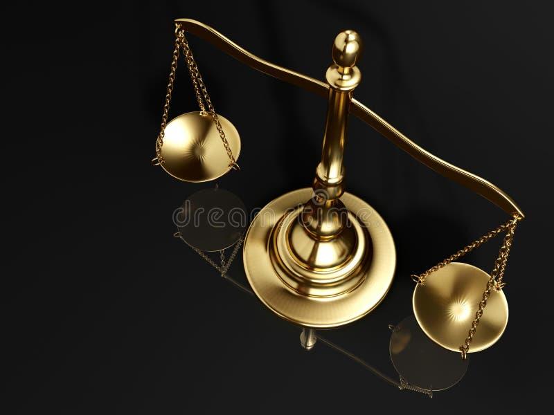 Escala de cobre amarillo de oro ilustración del vector