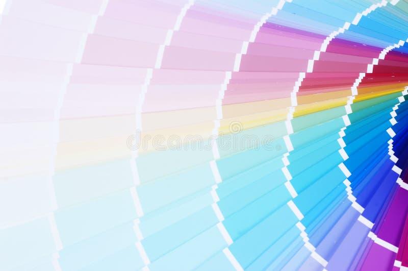 Escala de cor da impressão fotografia de stock royalty free