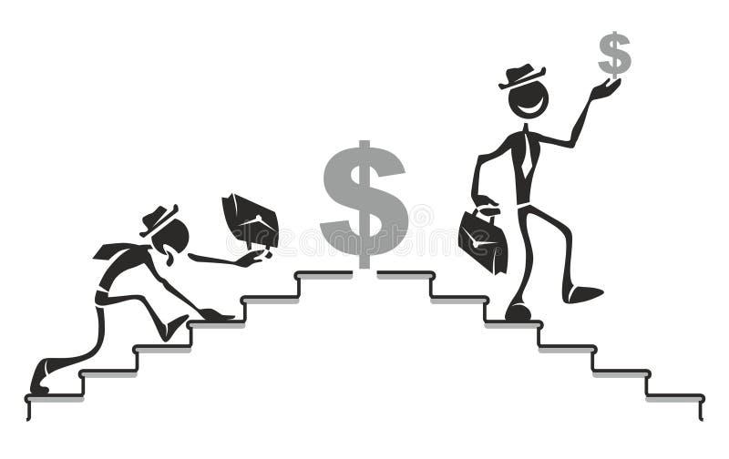 Escala de la carrera stock de ilustración