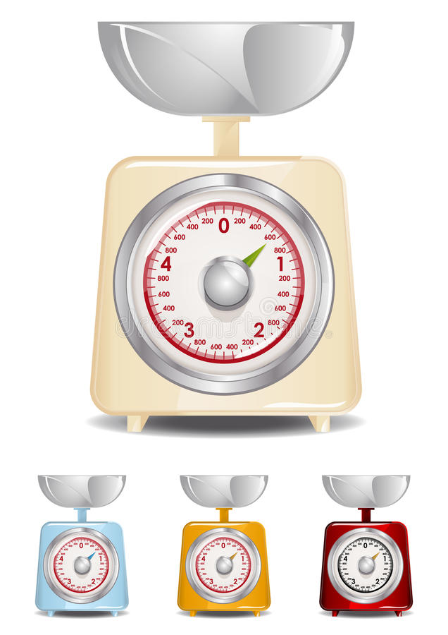 Escala de la cocina ilustración del vector