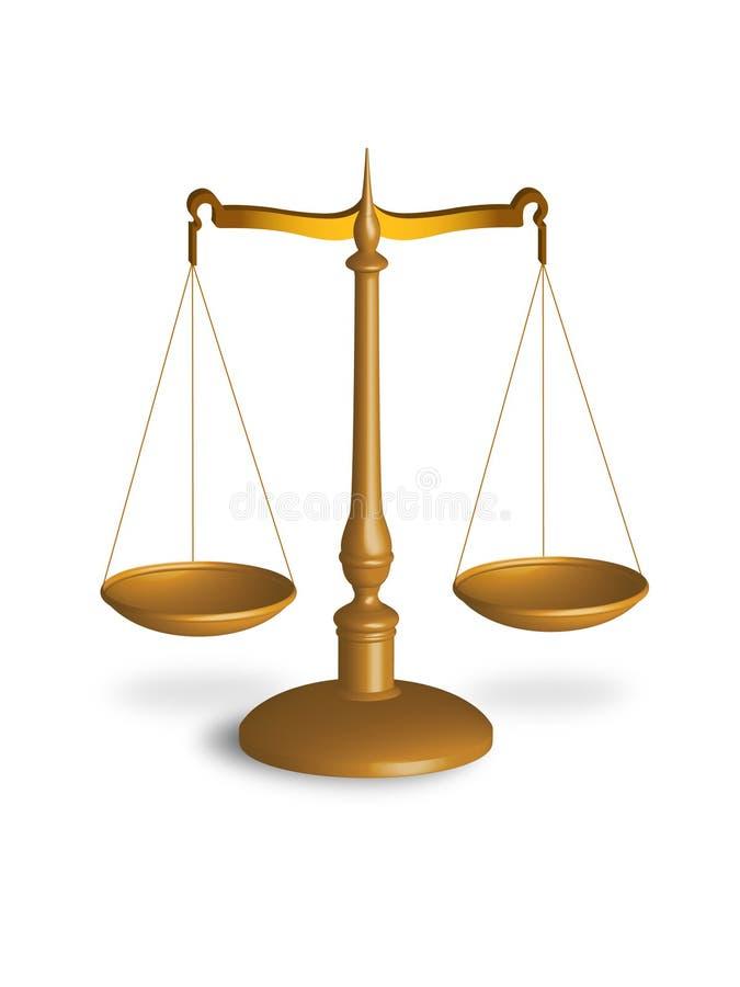 Escala de la justicia stock de ilustración