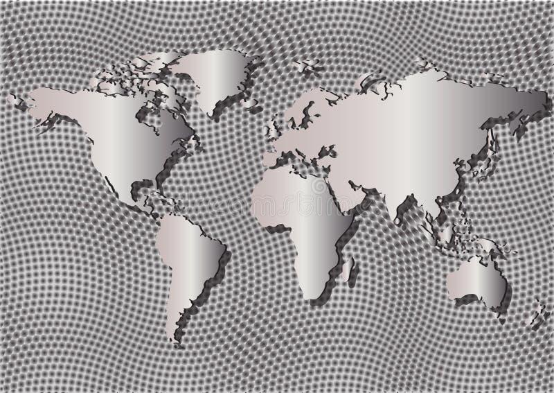 Escala de mapa de la pendiente fotos de archivo