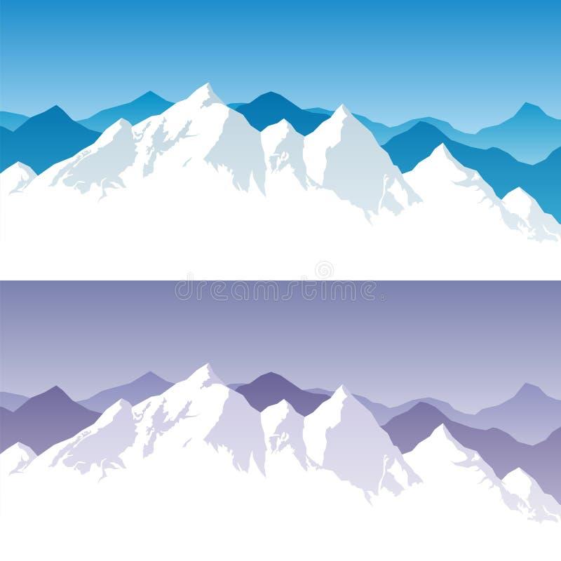 Escala de montanha ilustração stock