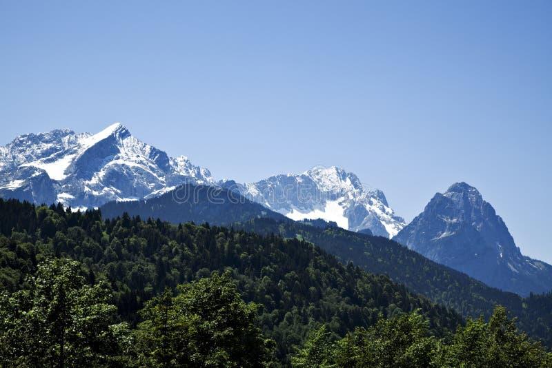 Escala de montanha de Wetterstein fotografia de stock