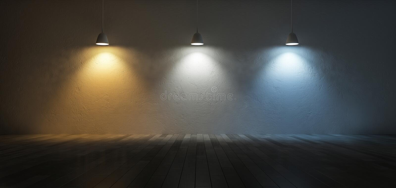 escala de temperatura de color 3Ds stock de ilustración