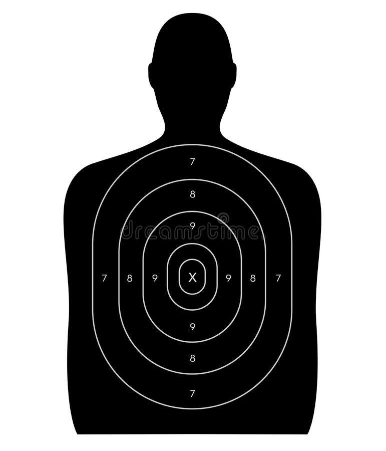 Escala de tiro - alvo humano ilustração do vetor
