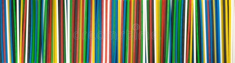 Escala de varas plásticas coloridas da matemática para aprender matemática imagem de stock