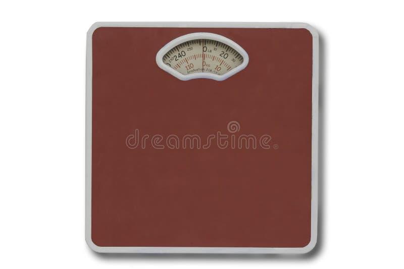 Escala del peso aislada en blanco. fotografía de archivo