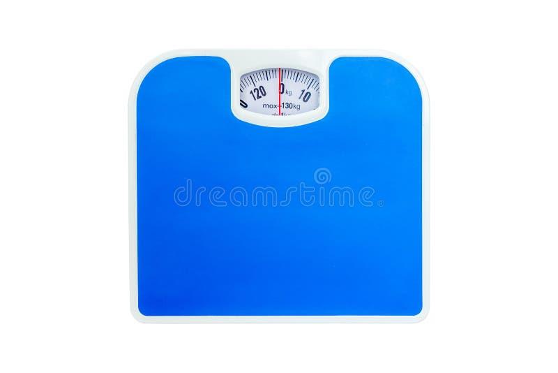 Escala del peso, aislada en el fondo blanco fotos de archivo