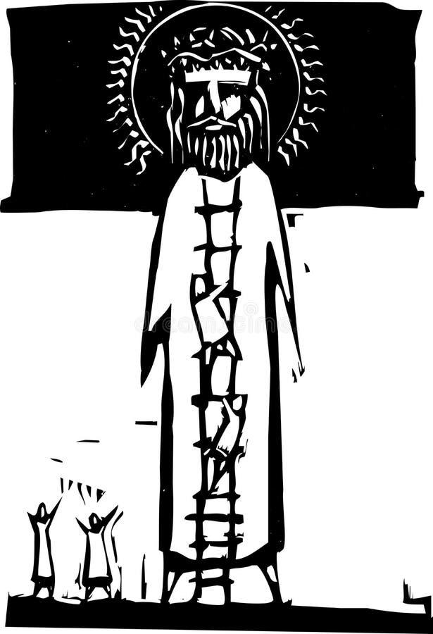 Escala a dios ilustración del vector