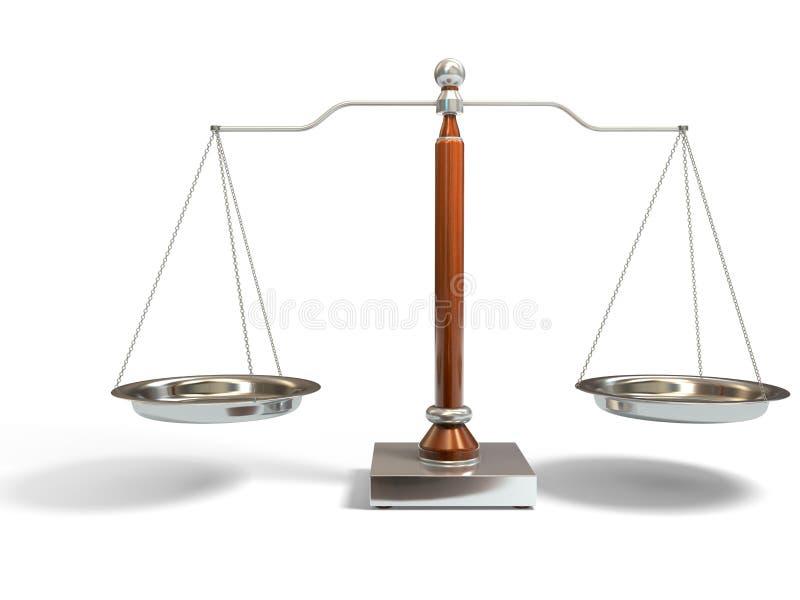 Escala do balanço ilustração royalty free