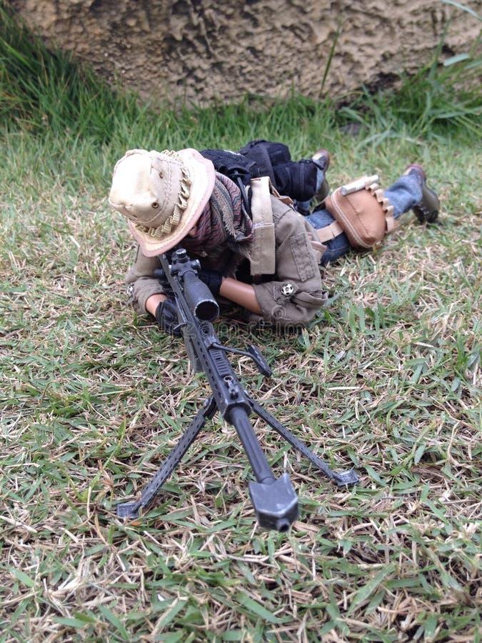 A escala 1/6 do barret M82A1 do atirador furtivo fotografia de stock royalty free