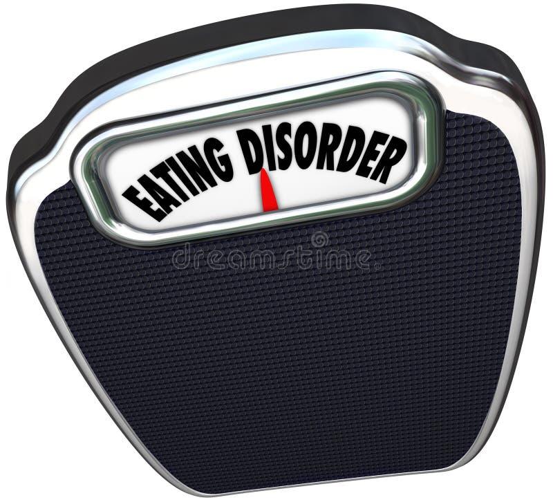 A escala do distúrbio alimentar exprime o problema de saúde da bulimia da anorexia ilustração stock