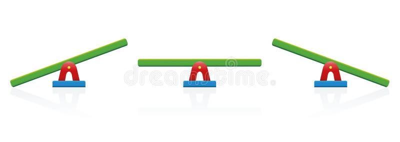 Escala do equilíbrio da balancê colorida ilustração do vetor