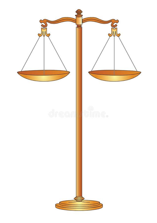 Escala dourada ilustração do vetor