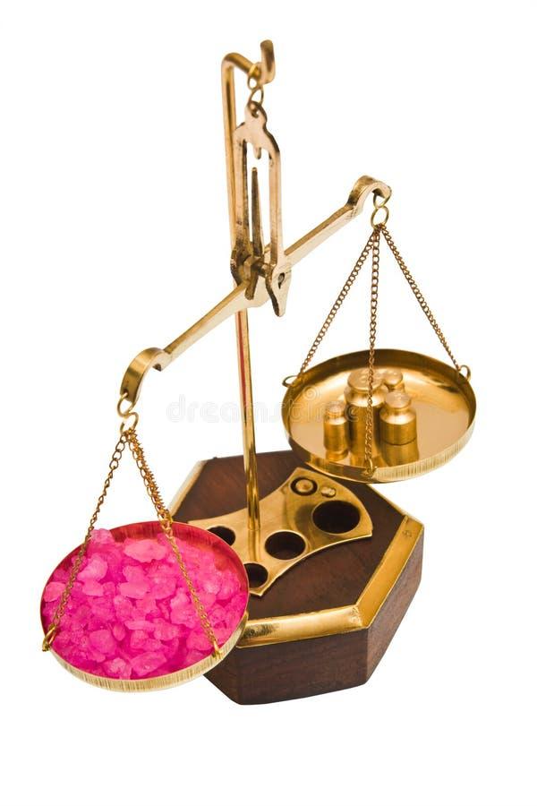 Escala farmacéutica del balance de la vendimia imagen de archivo libre de regalías