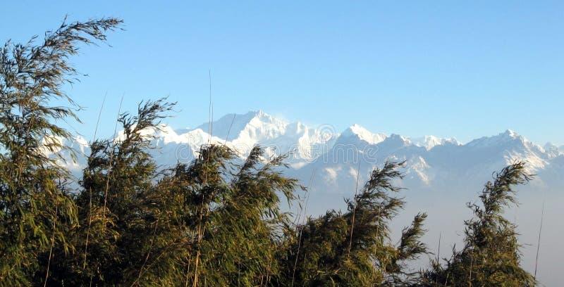 Escala Himalaia, Kanchenjungha foto de stock royalty free