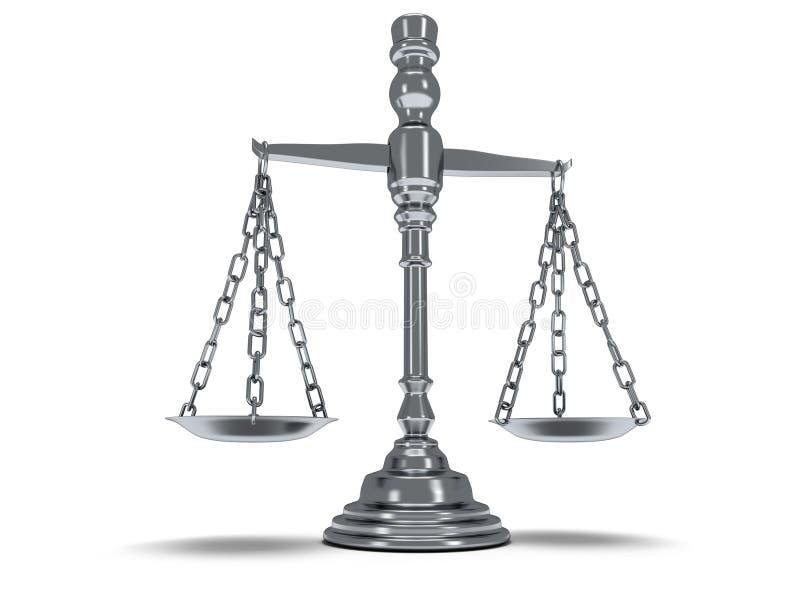 Escala la justicia en blanco 3d libre illustration