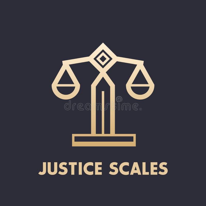 Escala o ícone, elemento do logotipo da empresa de advocacia ilustração royalty free