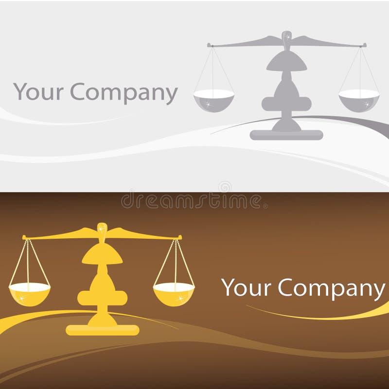 Escala o logotipo ilustração royalty free