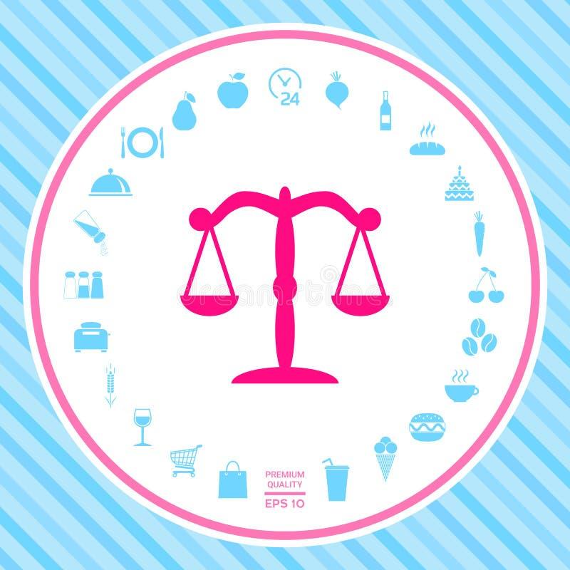 Escala o símbolo do ícone ilustração royalty free