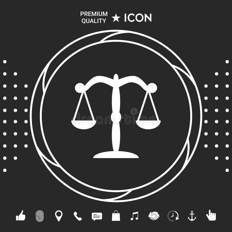 Escala o símbolo do ícone Elementos gráficos para seu designt ilustração royalty free