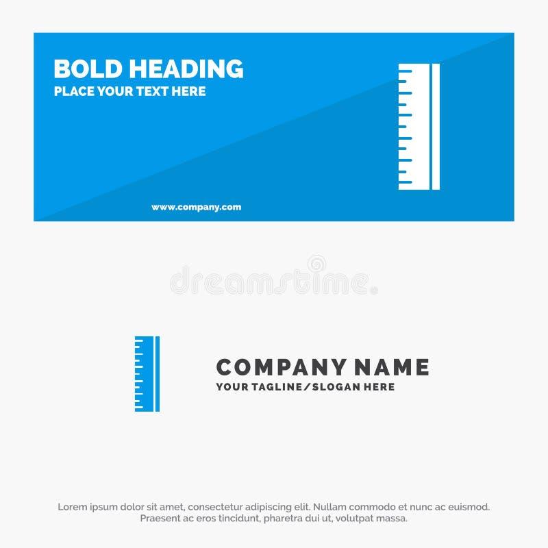 Escala, projeto, bandeira de SOlid Icon Website do desenhista e negócio Logo Template ilustração do vetor