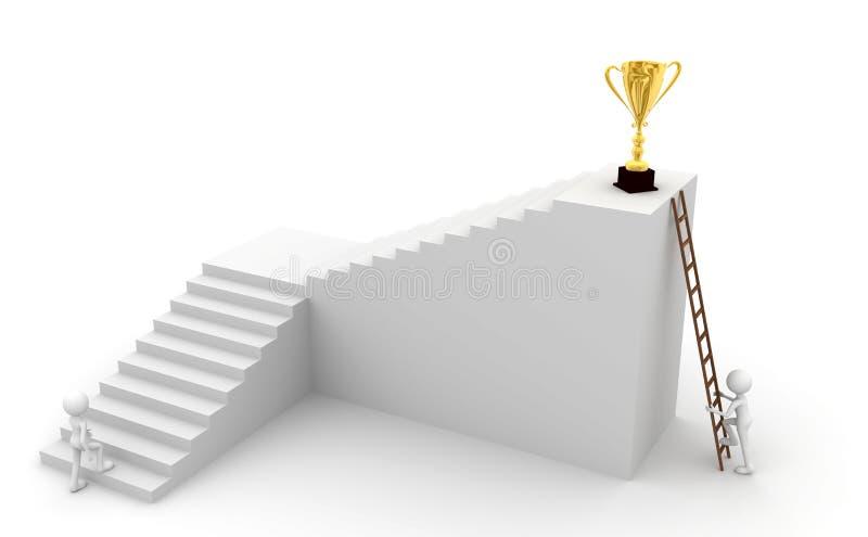 Escala y trofeos ilustración del vector