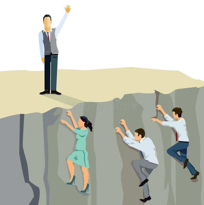Escalada do negócio ilustração do vetor