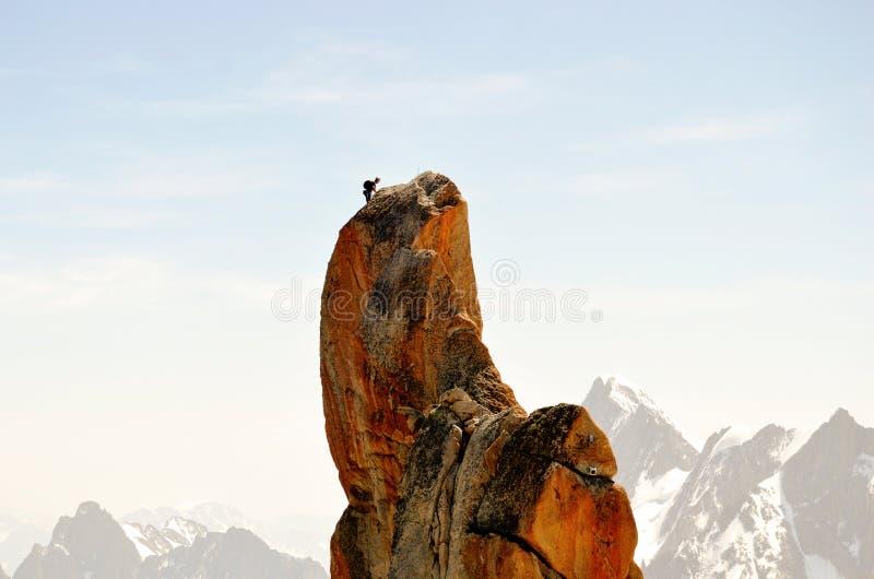 Escalada em Mont Blanc fotografia de stock royalty free