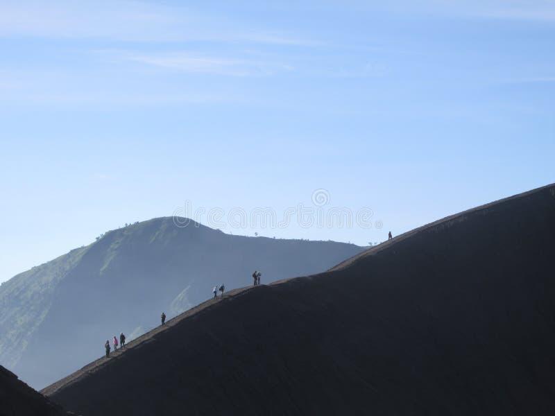 Escalada na montanha fotografia de stock
