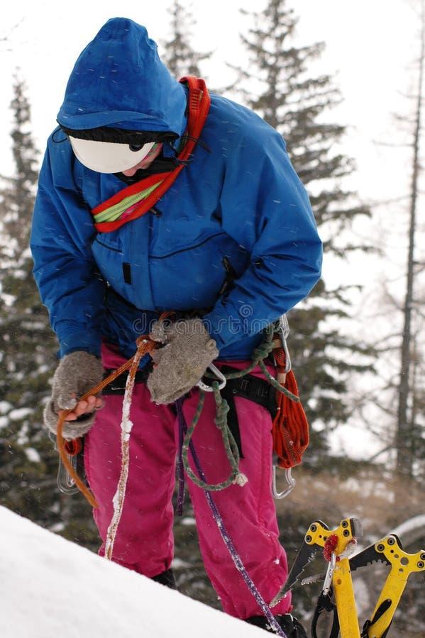 Escalada Nas Montanhas 2 Imagens de Stock