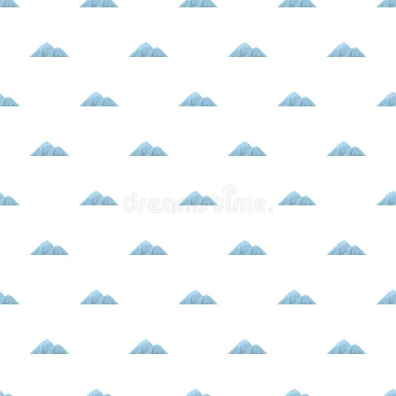 Escalada no teste padrão da montanha sem emenda ilustração do vetor