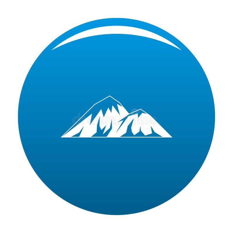 Escalada no vetor do azul do ícone da montanha ilustração stock